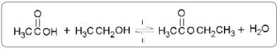 FDSBC 2019: A reação entre um ácido carboxílico e um álcool resulta em um éster.
