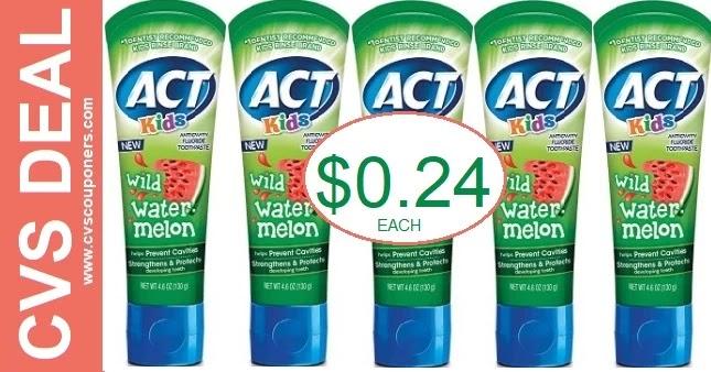 Act Toothpaste CVS Deals 6-6-6-12