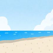 海辺・ビーチのイラスト(背景素材)