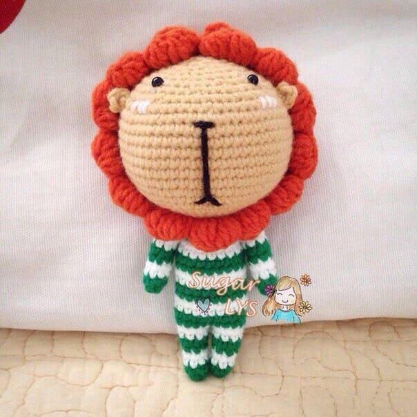 Маленький львенок амигуруми