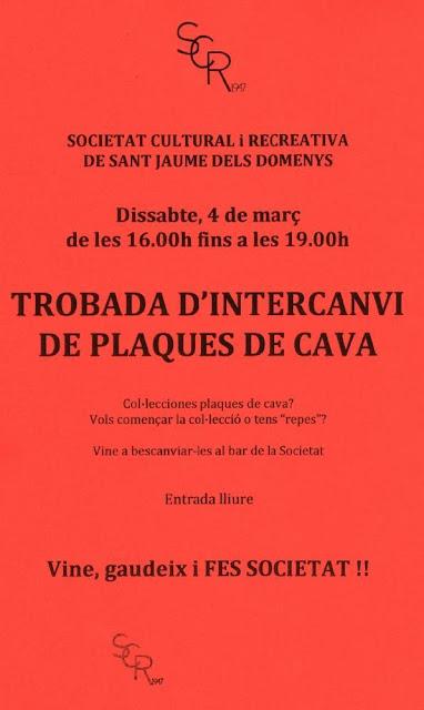 Trobada Col·leccionistes Plaques de Cava, Dissabte 4 de març de 2017, SRC Sant Jaume dels Domenys