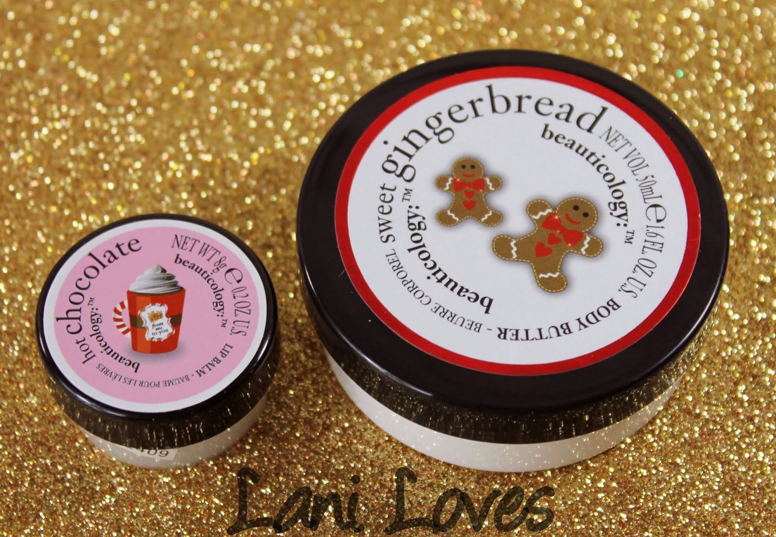 Beauticology Gingerbread Man Set - Hot Chocolate Lip Balm and Sweet Gingerbread Body Butter Photos & Review