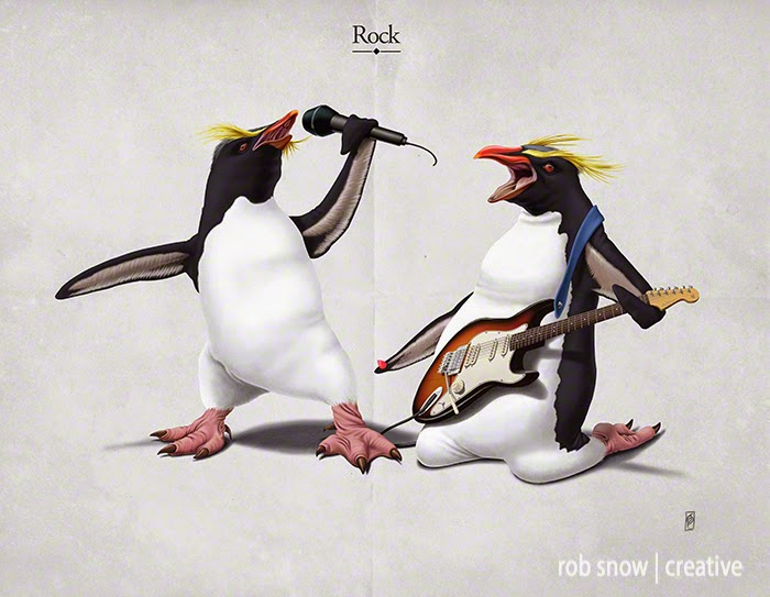 21-Rock-Rob-Snow-Animal-Illustrations-Play-on-Words-www-designstack-co