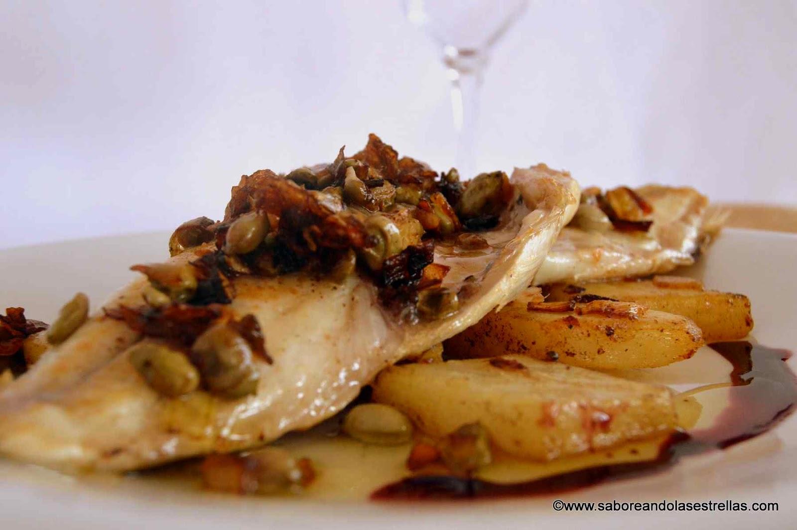 Filetes de Dorada con salsa de vino tinto