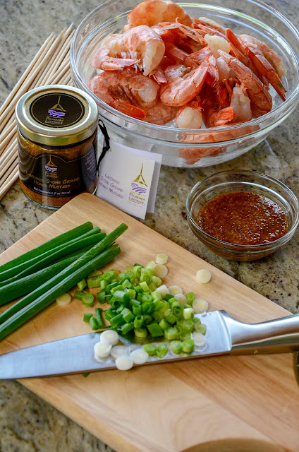 Lavender Dipping Sauce made with Lavender Honey Mustard