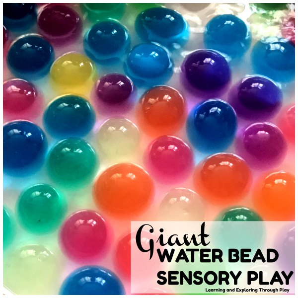 Giant Water Beads Sensory Play