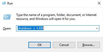 membuat jadwal shutdown otomatis windows 10