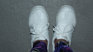 My brand new Skechers Breathe Easy Jackpot sneakers in white