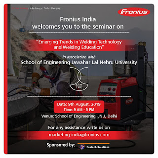 WELDING SEMINAR AT JNU ON 9TH AUGUST, 2019 ~ OFFICIAL BLOG OF PROF