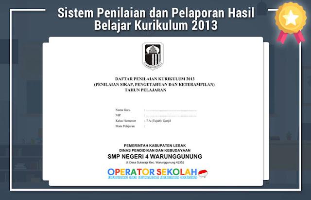 Sistem Penilaian dan Pelaporan Hasil Belajar Kurikulum 2013