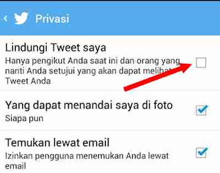 melindungi tweet