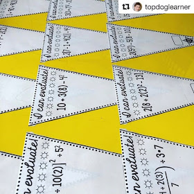Who doesn't love free? In this post are a bunch of free math bulletin board printables, from posters to math pennants that you can download for your classroom today. These order of operations pennants displayed my Ms. Oberbichler make a fun classroom display.