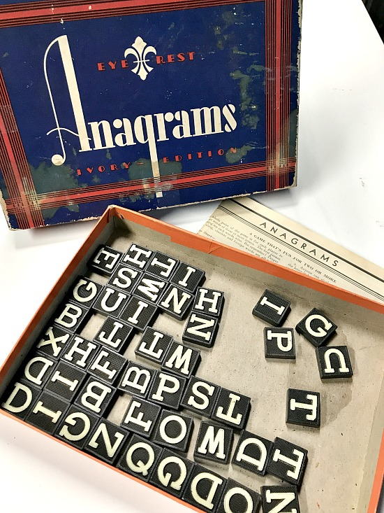 vintage anagram game