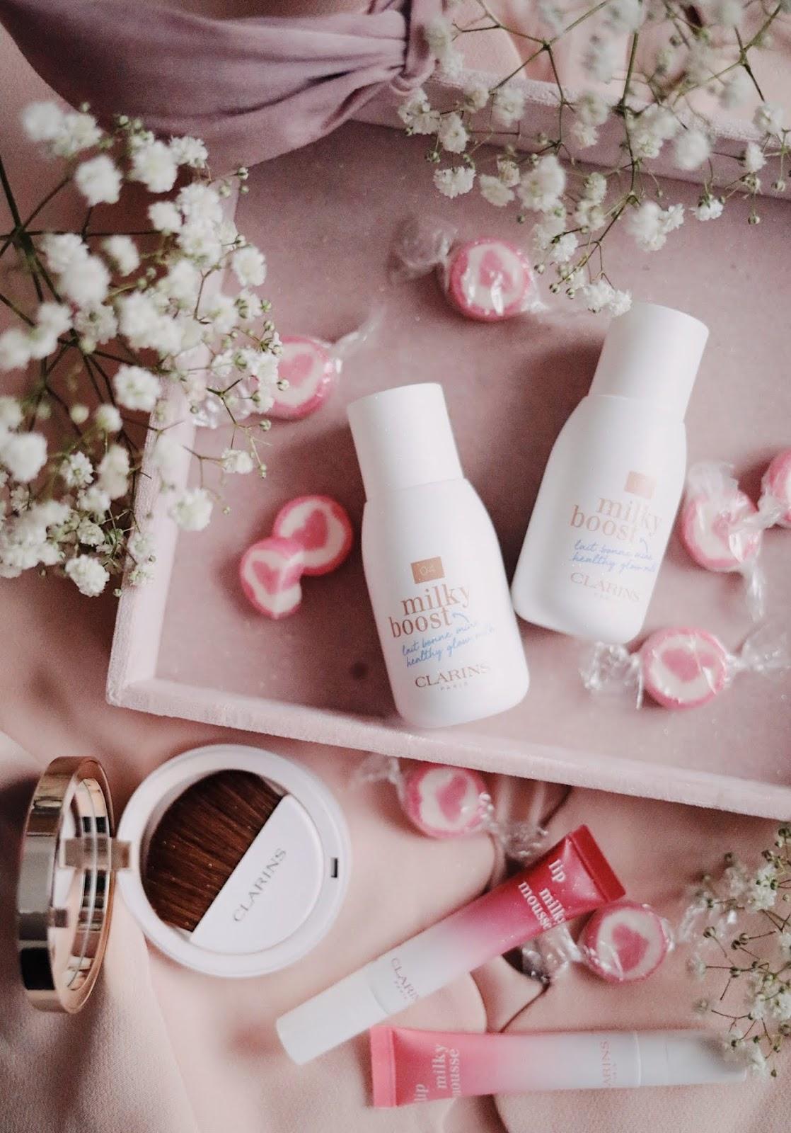 clarins , milky boost , lait maquillant , lait bonne mine , rosemademoiselle , rose mademoiselle, blog beauté, blog beauté à paris,
