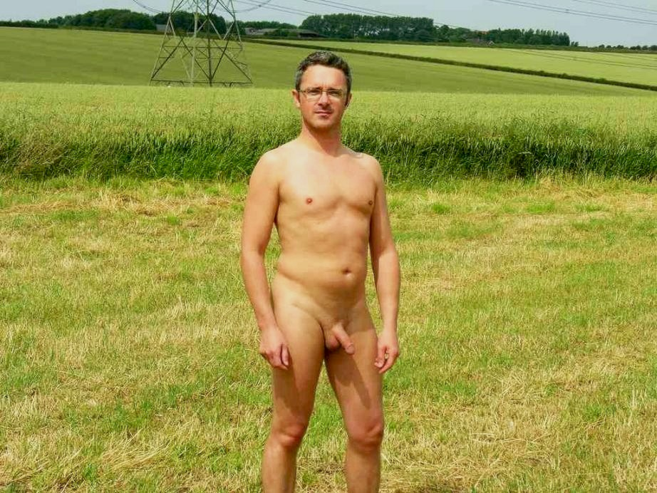 Male pubic hair exposed in public nude men