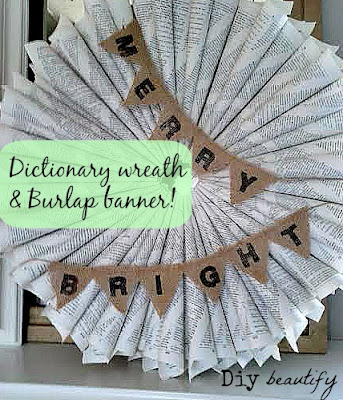 Make a Mini Burlap Banner www.diybeautify.com