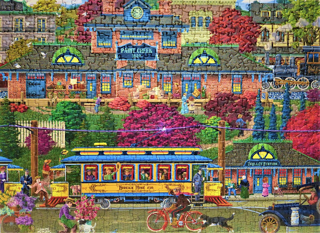 Trolley Station 500pc Cobble Hill puzzle assembled by Elmer Prather