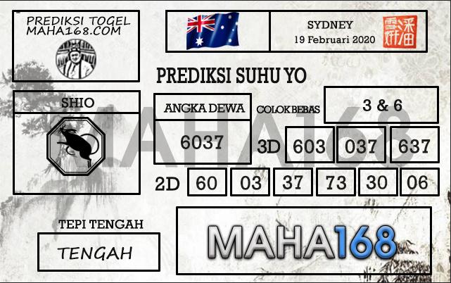 Prediksi Togel JP Sidney 19 Februari 2020 - Prediksi Suhu Yo