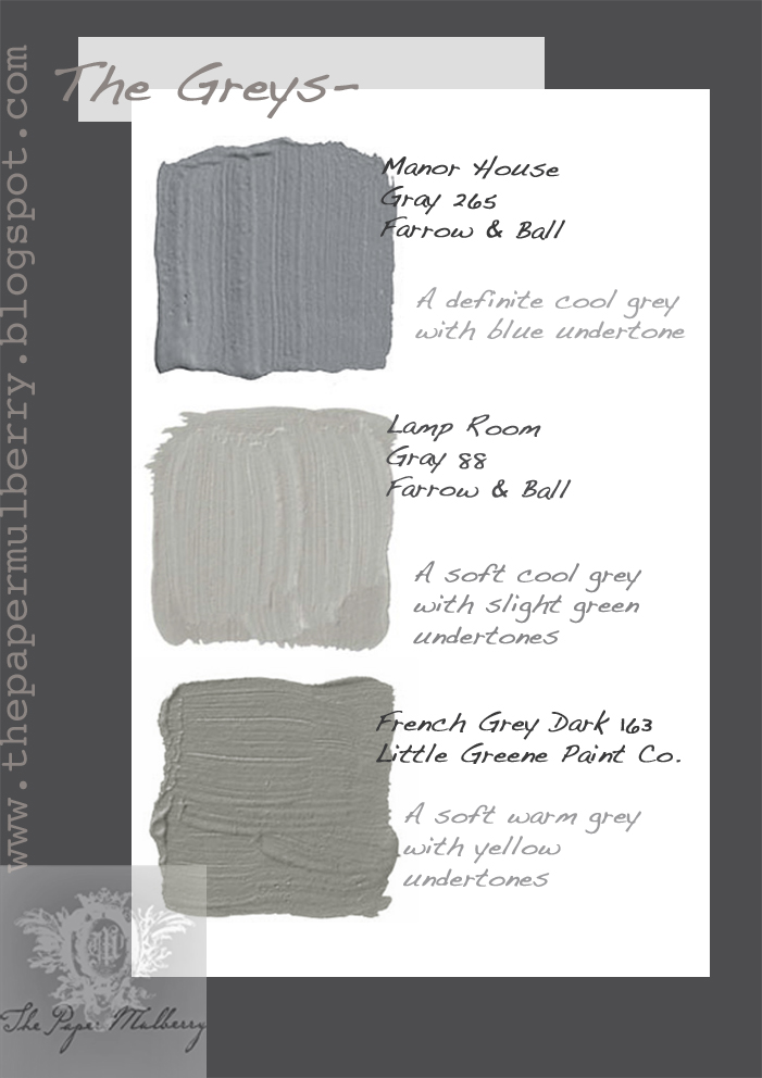 The paper mulberry exterior paint shades part 2 Different colours of grey paint