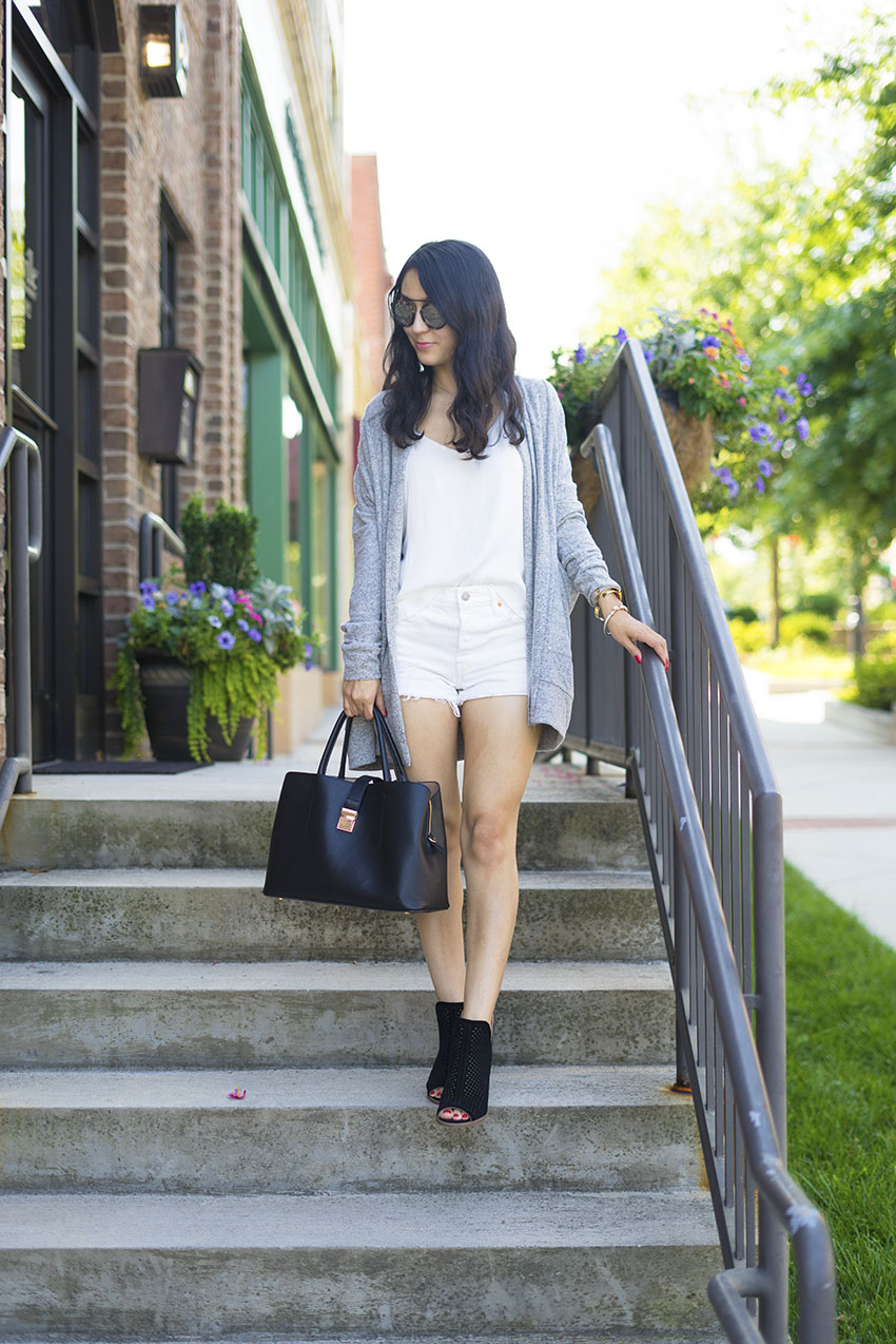 all white summer outfit, lucky brand larise booties, early fall outfits, easy summer outfits