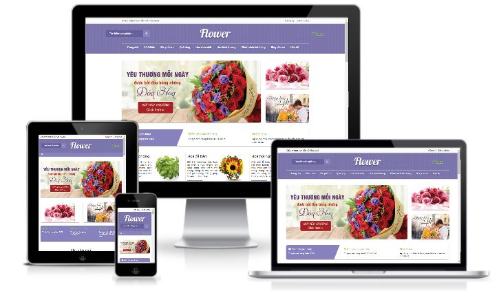Giao diện blog bán hoa miễn phí chuẩn seo Google