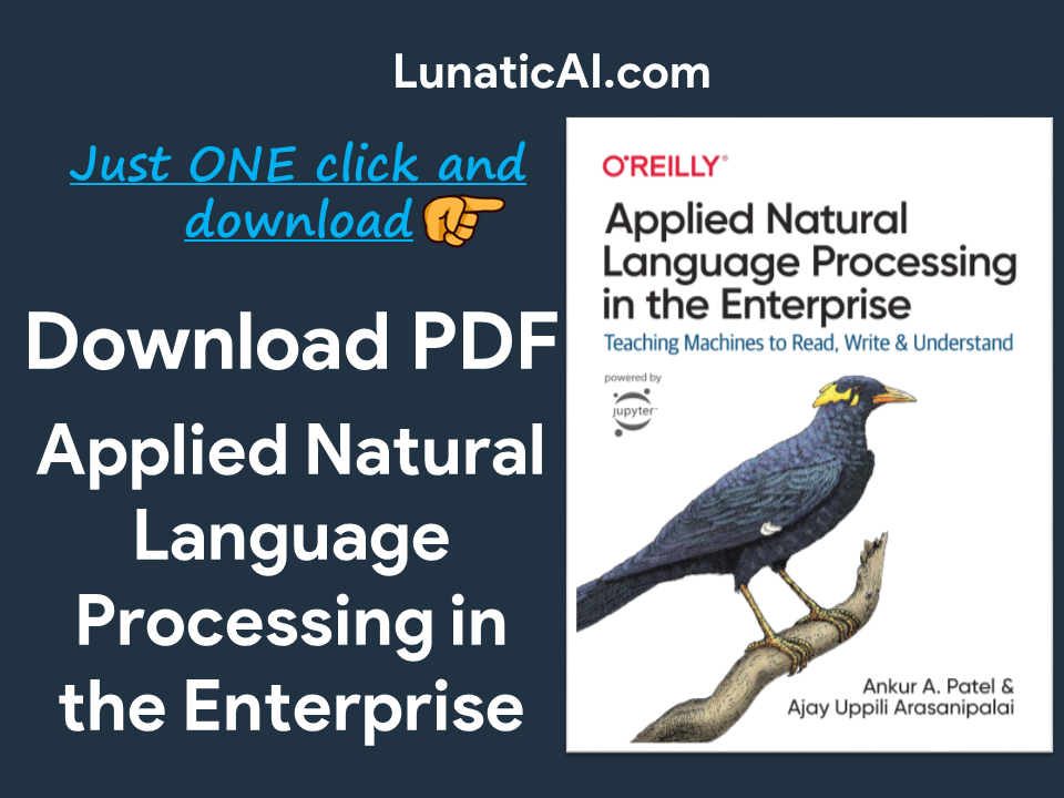 Applied Natural Language Processing in the Enterprise PDF