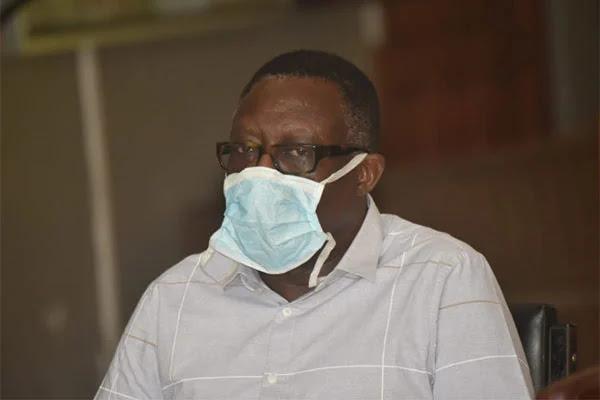 Kilifi DG Gideon Saburi when he appeared at the Mombasa Law Court on April 9. PHOTO | NMG