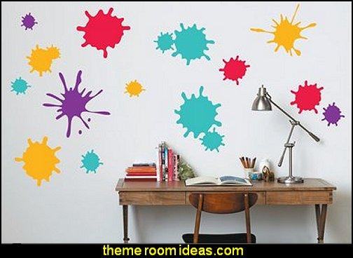 Decorating theme bedrooms - Maries Manor: Splatter Paint ...