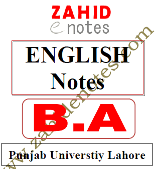 BA English complete notes for PU PDF download