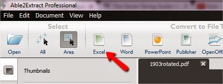 "Now click on ""Excel"""