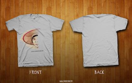 Download Mockup T-Shirt CDR File Gratis
