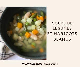 Soupe de Légumes et Haricots Blancs