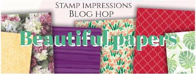 Stampin' Up! rosa Mädchen Kulmbach: Stamp Impressions Blog Hop: Beautiful Papers: Hochzeitskarte mit Segensfeste und Designerpapier Holzdekor