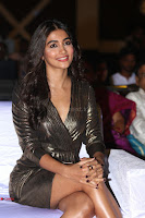 Pooja Hegde looks glamarous in deep neck sleevless short tight golden gown at Duvvada Jagannadham thank you meet function 112.JPG