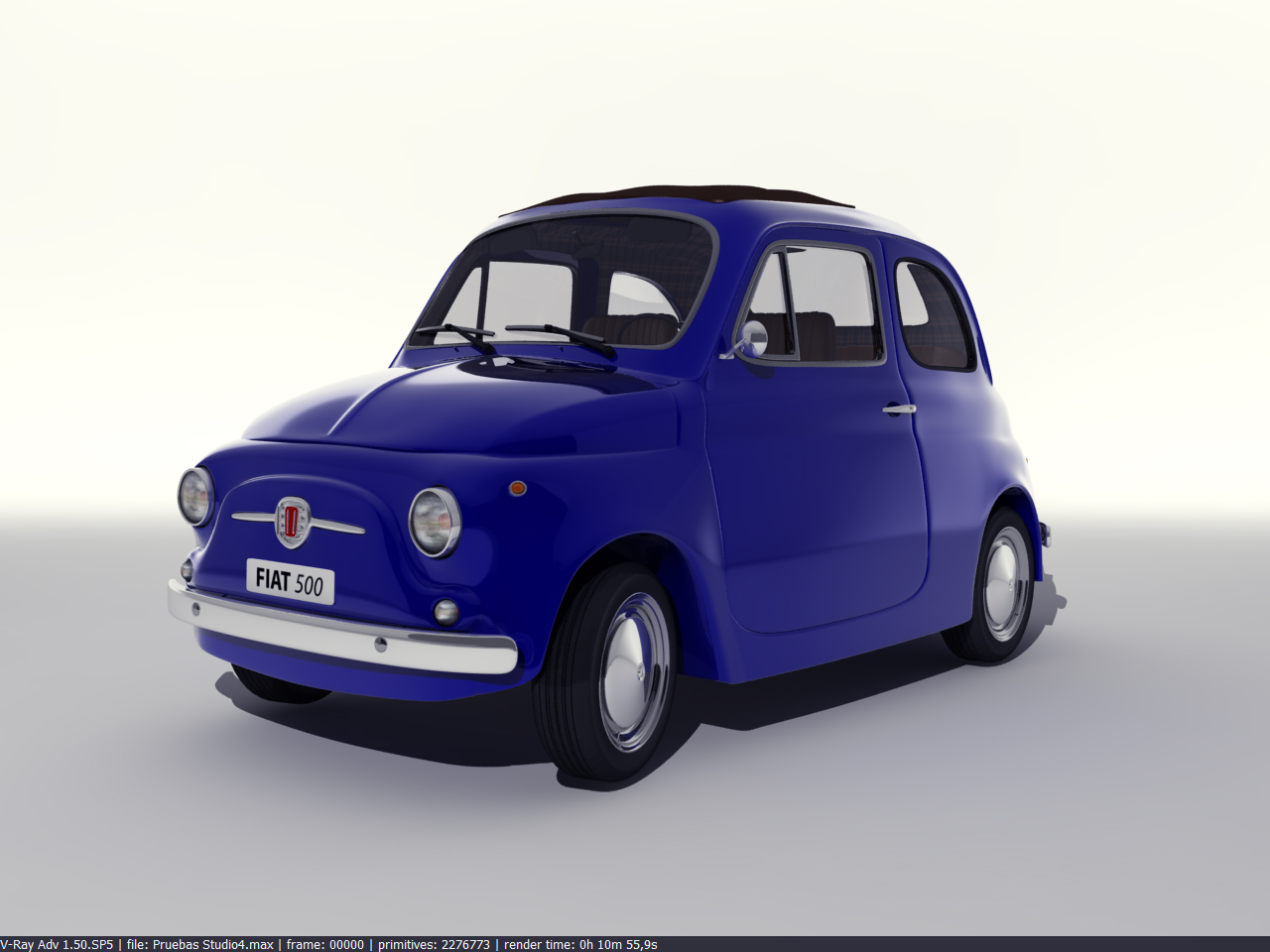 fiat 500 3d stuff modelling lighting rendering. Black Bedroom Furniture Sets. Home Design Ideas