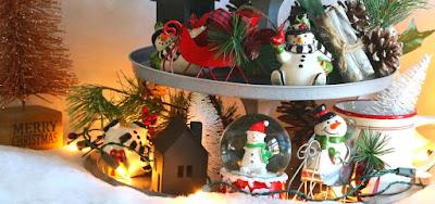 diy, farmhouse, industrial, decor, Christmas, vignette, simple, dollar, tree