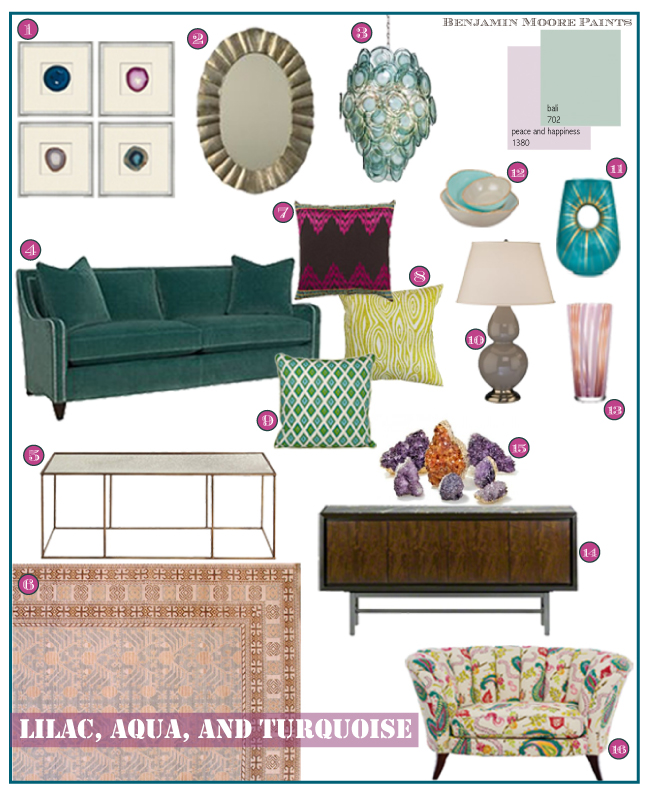 Lilac, aqua, and turquoise color Ppalette by Cozy•Stylish•Chic