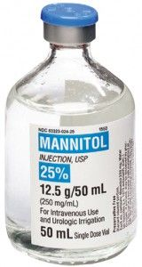 Mannitol is used to reduce acutely raised intracranial pressure until more definitive treatment can be applied