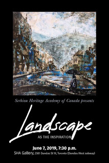 Art Exhibition Landscape As the Inspiration at Gallery of Serbian Heritage Academy in Toronto, poster