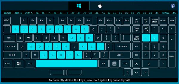 2. Cách test keyboard với Key Test a