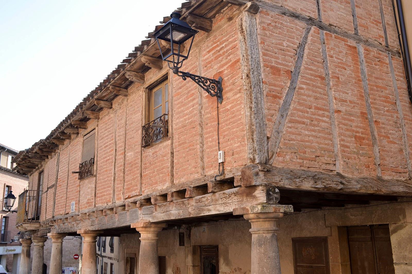 lerma burgos spain castile leon typical house construction beautiful village