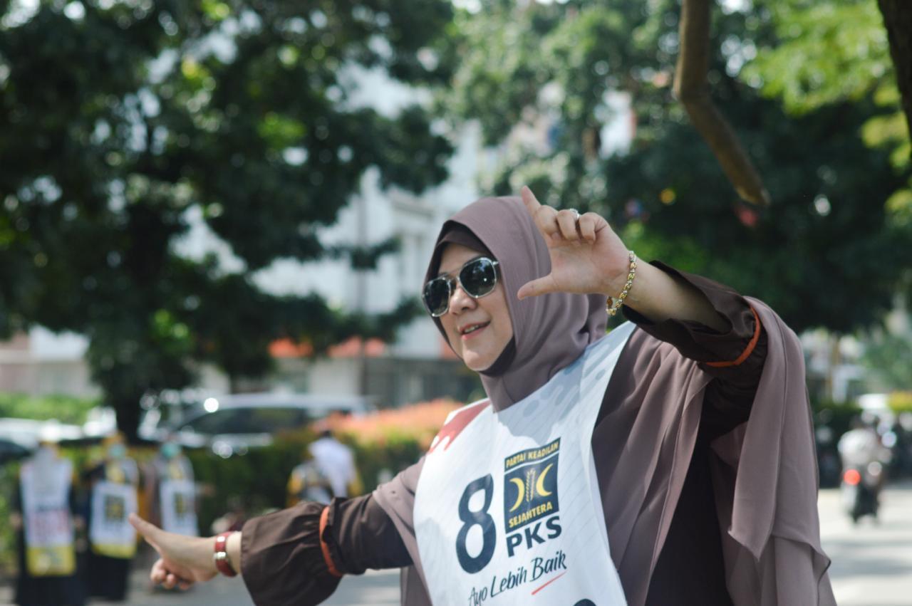 Kampanye Terakhir, Emak-Emak Gegerkan Kampanye PKS Serpong