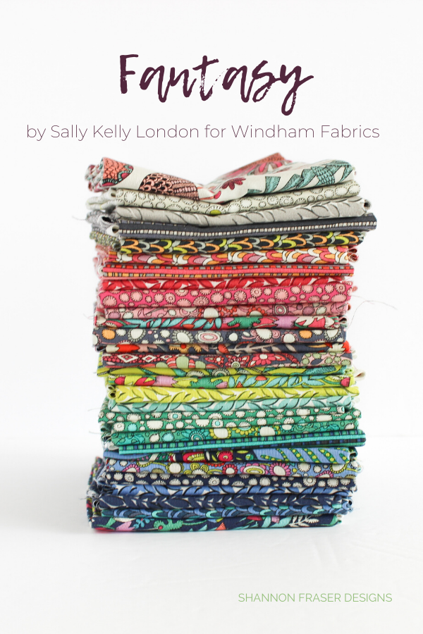 Fantasy Fat Quarter Bundle by Sally Kelly London for Windham Fabrics | Shannon Fraser Designs #fatquarterbundle #quilting #fabric