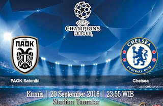 Prediksi PAOK Saloniki vs Chelsea 20 September 2018