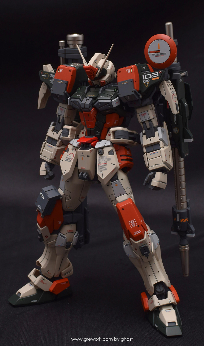 Custom Build: MG 1/100 Buster Gundam [Detailed] by Ghost