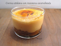 18 de marzo de 2016 Crema catalana con manzana caramelizada