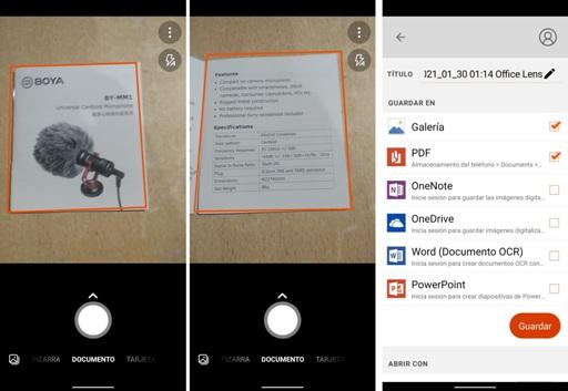 Escanear un documento o imagen con el celular
