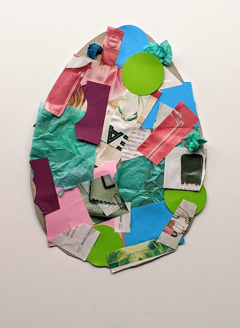 Easy Easter Egg Paper Collage Art Activity for Kids
