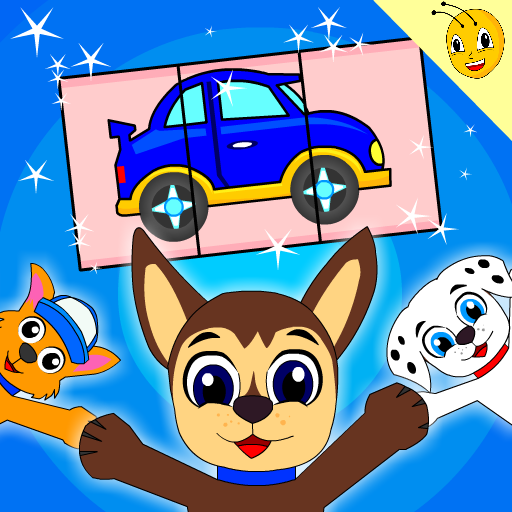 Puppy Cars Kids Puzzles Game