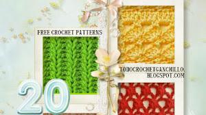 20 Patrones de Puntos Crochet